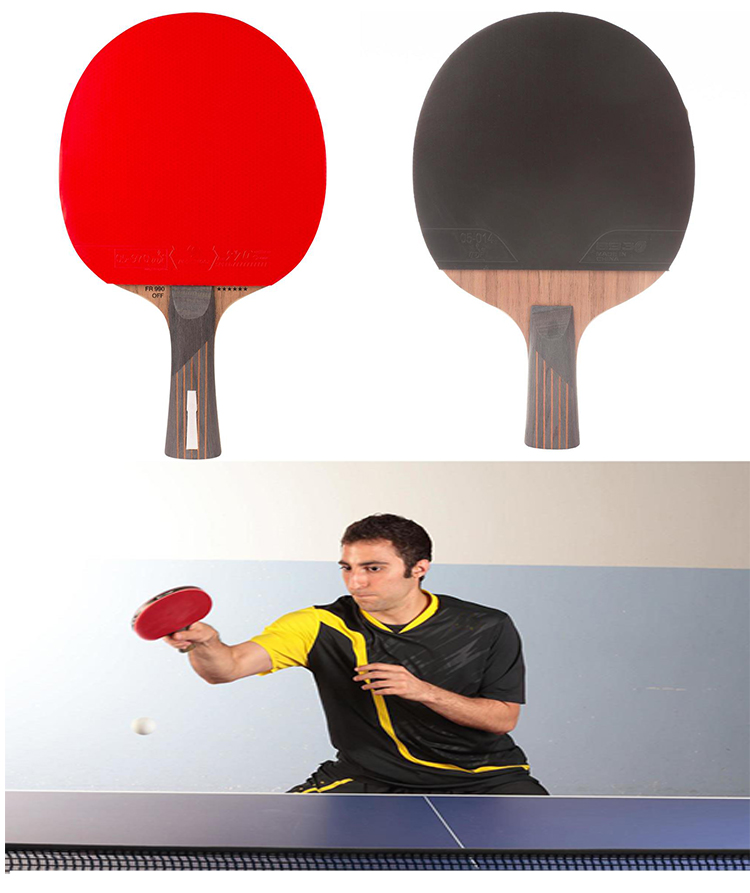 Original factory whole sale portable table tennis racket rubber pingpong ball quick shipping