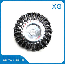 "4.5"" 5"" 6"" diameter 22mm steel wire brush/Twist knot round wire wheel brush"
