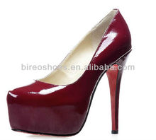 2013 noble women fashion shoes red hight heel shoes ( style no. WP604136)