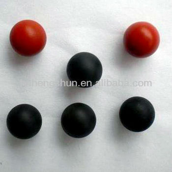 solid rubber balls