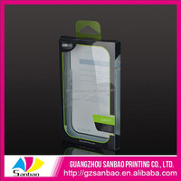 Hanging PVC clear box plastic for Mobile phone accessories packaging