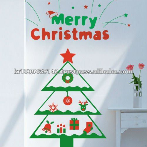 Wall Sticker_Decal Sticker_Indoor wall decor_modern home decor_christmas Decoration/ Icon Tree