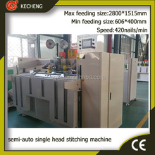 High Quality semi-auto Corrugated Carton Box stitching machine/Stapler machine/stapling machine