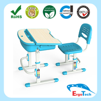 Modern Plastic School desk and chair set