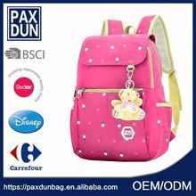 Custom pink color Little School Bag For Teenage Girl