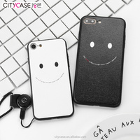 citycase new products smile series custom pc tpu phone case for iPhone 7 7plus