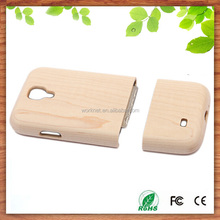 new arrival universal for samsung galaxy s4 i9500 maple wooden cover case