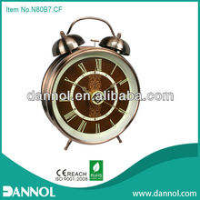 Big Size Antique Style Quartz Metal Twin Bell Alarm Brass Table Clock/wind up alarm clocks only