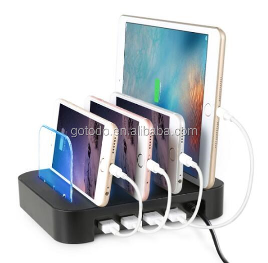 new arrive 5 port usb charger multi port fast charging dock for mobile phone charging stand