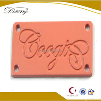 LOGO83 Wholesale clothing private label, metal clothing tag labels, pink label clothing