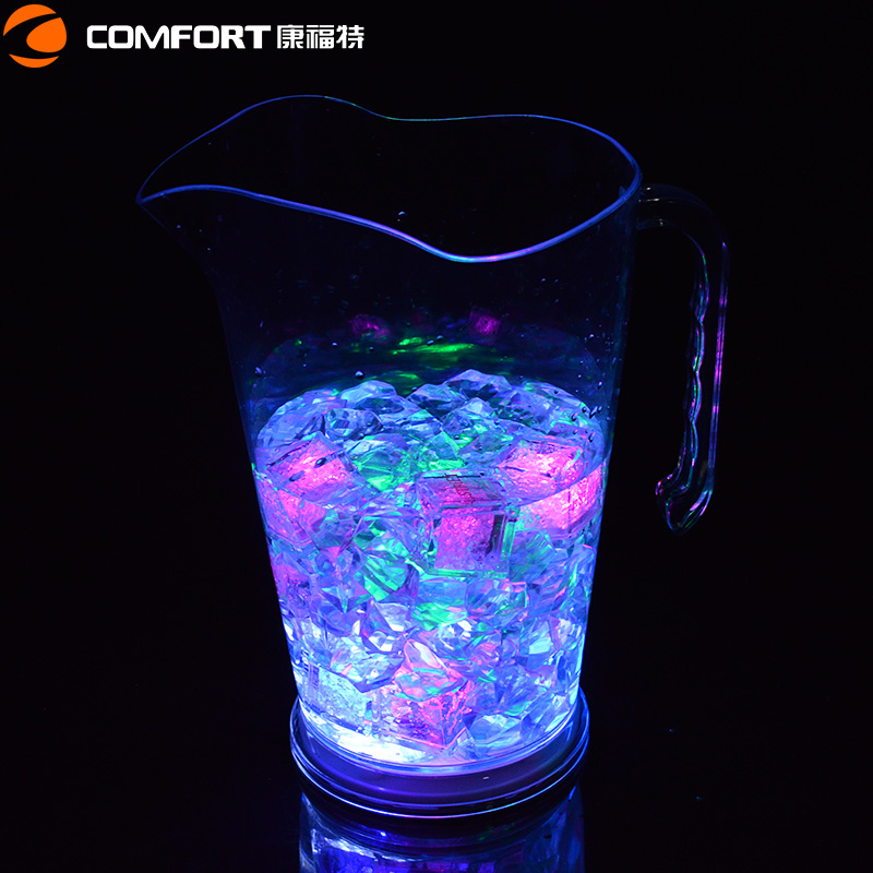 BPA free cheap plastic PS led beer pitcher with handle