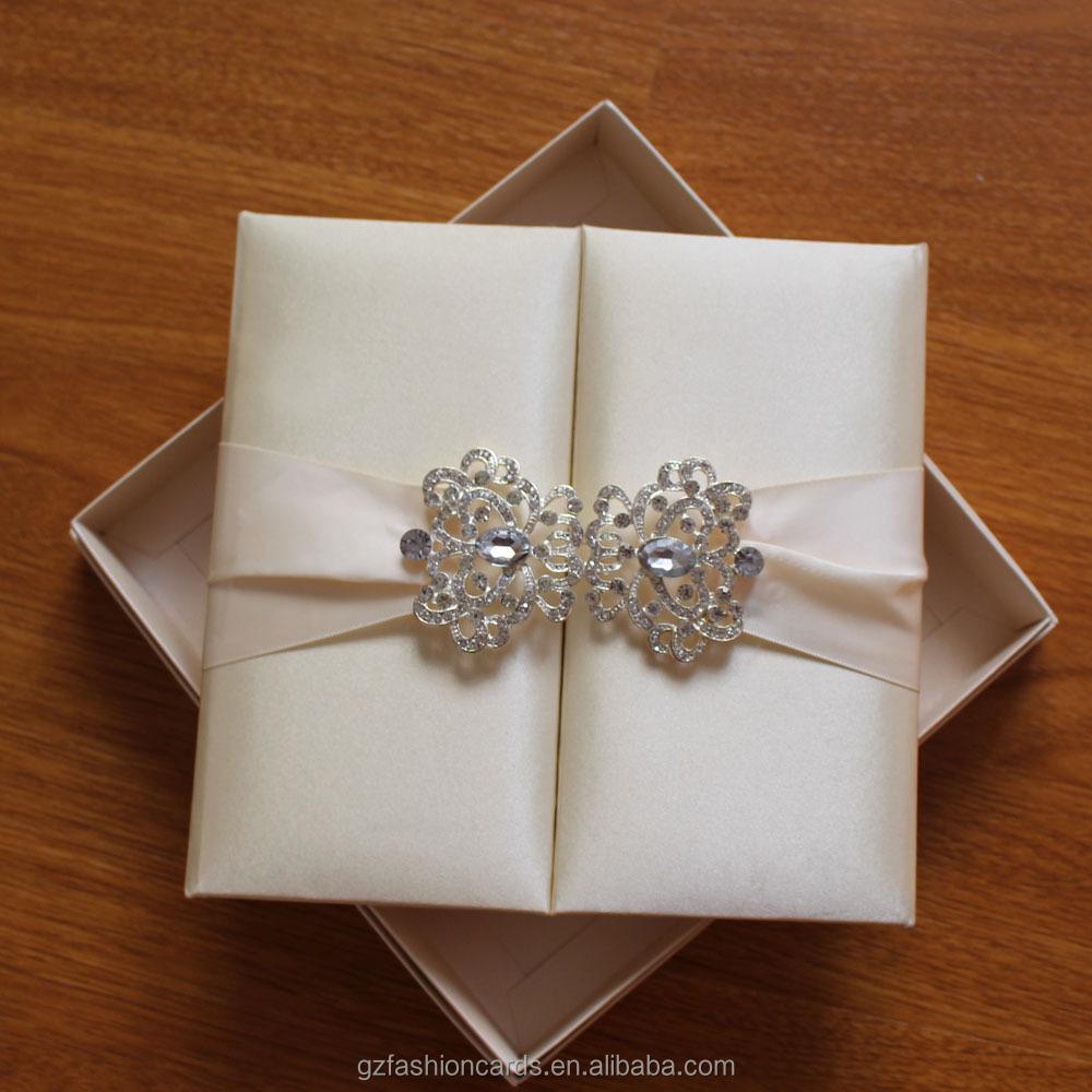 Cream Silk Invitation Folder Luxury Silk
