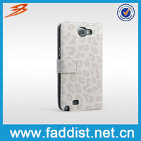 Flip Leather Case for Samsung Galaxy Note 2 N7100 Leopard Design