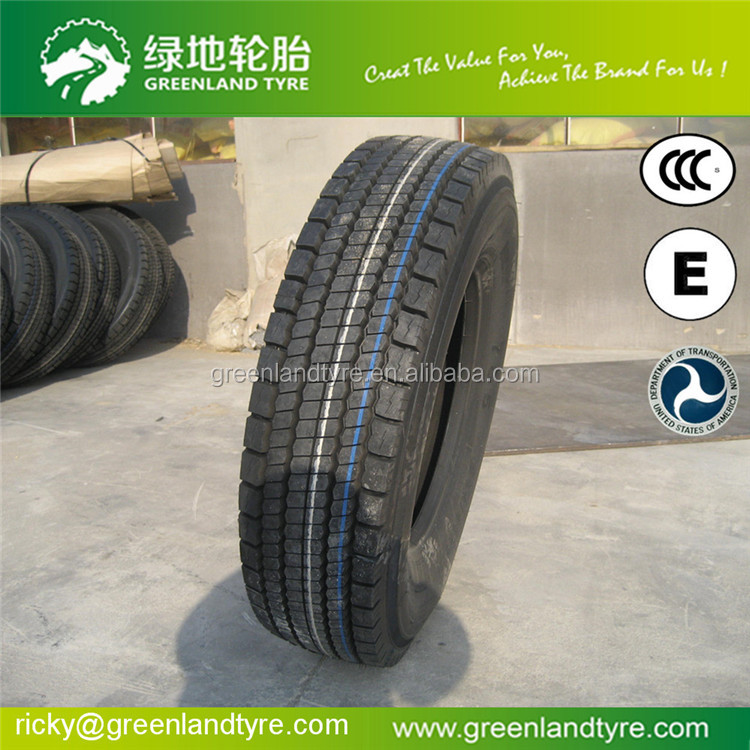 Greenrun 2017 Chinese tyre Brand cheap radial with own factory Semi Steel Radial Truck Tire 315/80R22.5-20