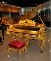 Luxurious Gold Grand Piano Dragon Golden Grand Piano GP-2, luxury furniture for sale