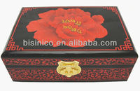 New Item-Lacquer Hand Painting Jewelry Box with Mirror, High End Single Layer Collection Box, Asian Style Furniture