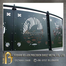 China supplier manufacturing decorative screen door grill , laser cutting metal screen