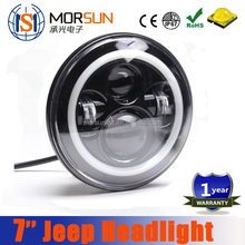 2016 New product color option hi/lo beam 7'' led headlight for Jeep Wrangler CJ TJ with DRL ring