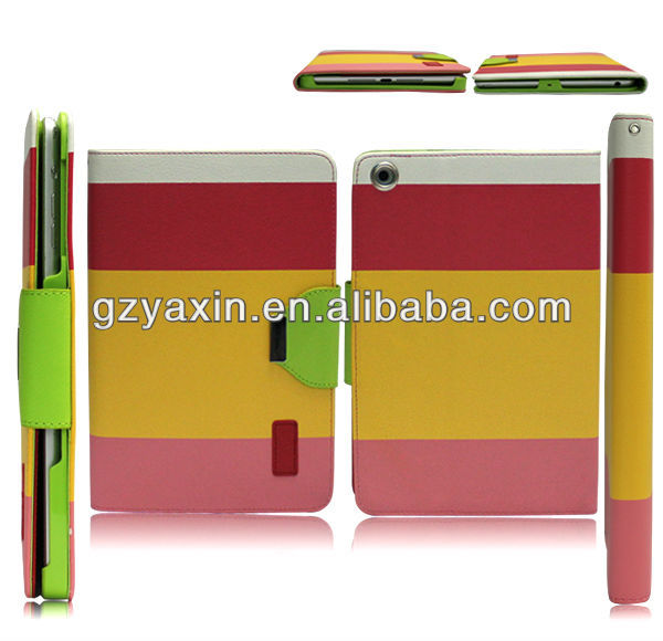 New Design leather cover case for ipad mini 2,customized case