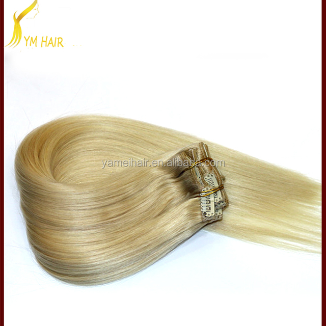 double weft blonde color indian human hair weave, indian blonde remy wavy hair