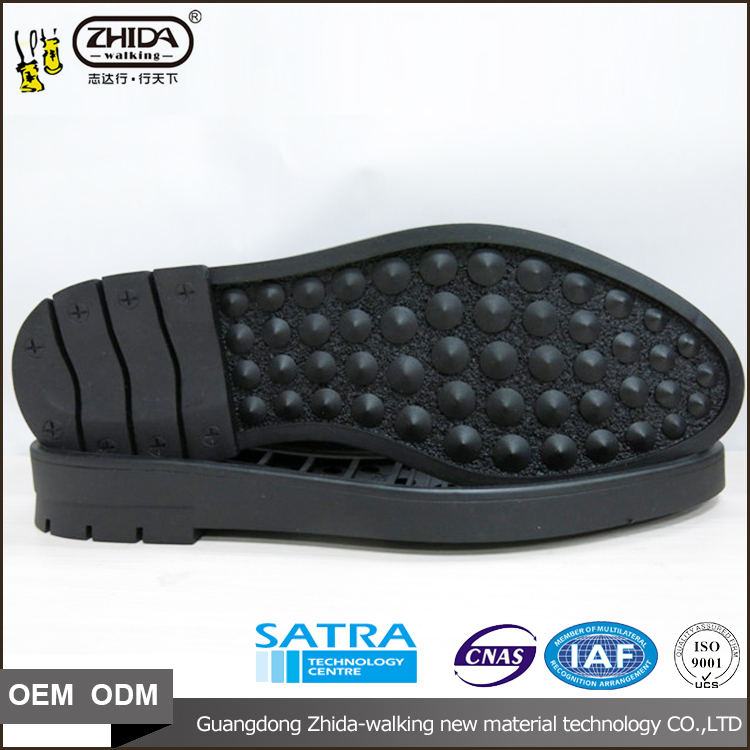 OEM ODM service Soft rubber casual shoes outsole full size 38-43 men 's business rubber sole for shoe making