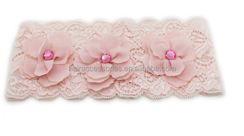 Baby head wrap-Wide lace baby headband,head wrap