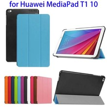 3 Folio PU Flip Leather Tablet Case for Huawei MediaPad T1 10 Case Cover