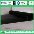 FINE RIBBED RUBBER SHEET anti-slip rubber flooring mat with fine ribbed rubber sheet,Horse rubber mat checker, ribbed round butt