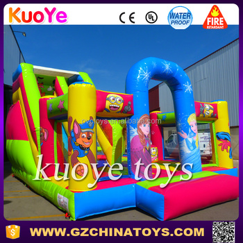 cheap playground slides bounces trampoline park inflatable