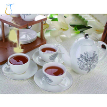 China big silver plated bone tea cups sauces set