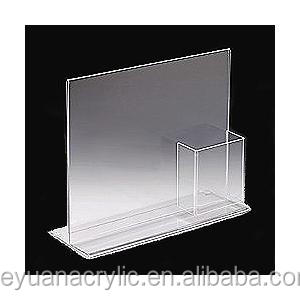 Tabletop Clear L-shape acrylic sign holder A5 for restaurant