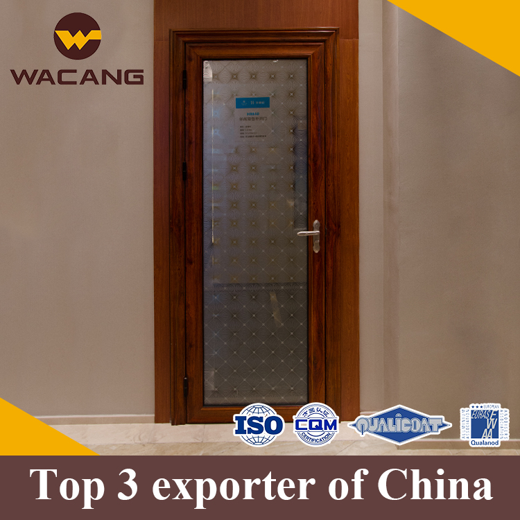 Modern Style popular wooden aluminium alloy glass commercial doors