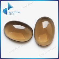 Transparent coffee color oval shape wholesale glass cabochons