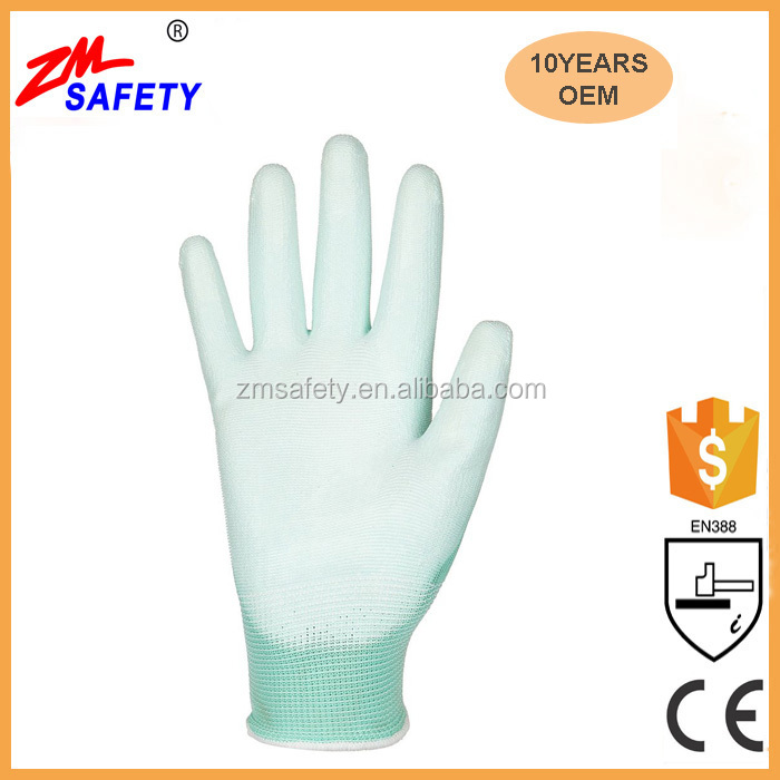 Factory Price Ultimate Grip Safety Work PU Coated Gloves for Garden Fishing Electrician Automotive Kids Women Men