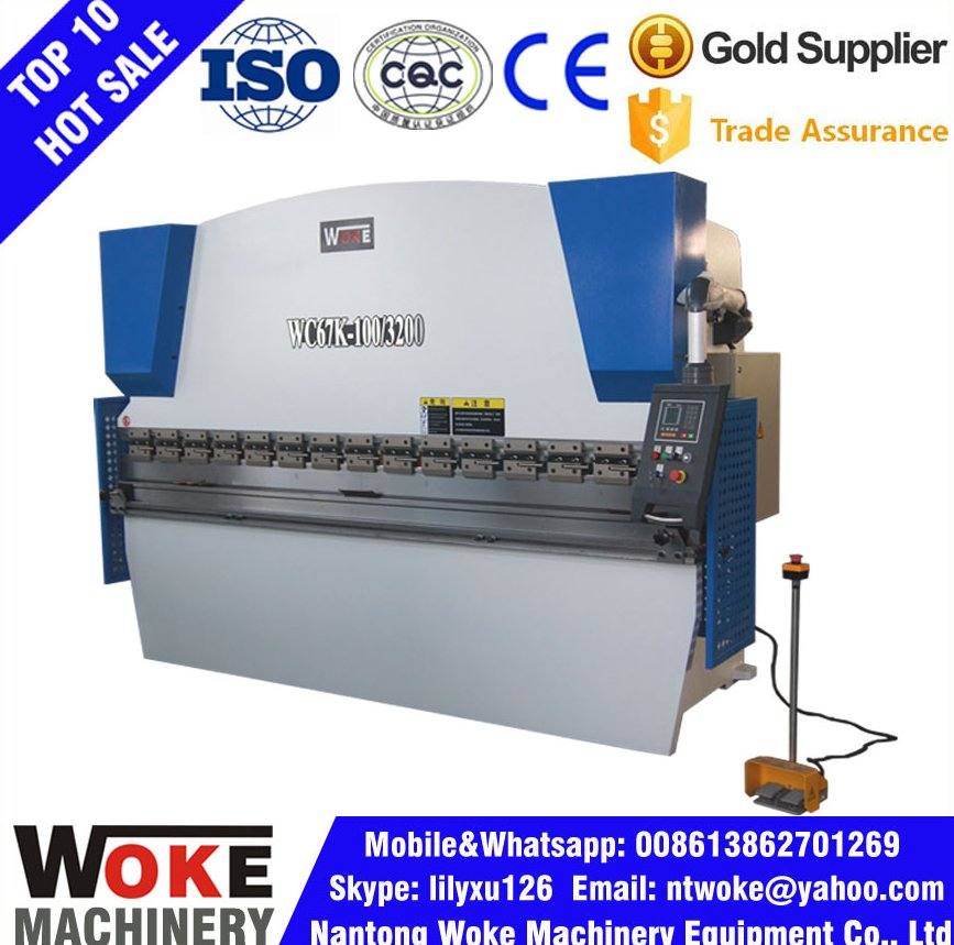 WC67Y Press Brake Hydraulic CNC Sheet Metal Bending For Sale