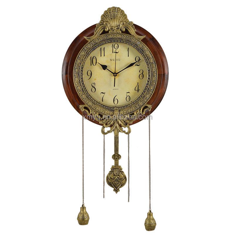 Decorative Pendulum Wooden Wall Clock Ajanta Wall Clock Models