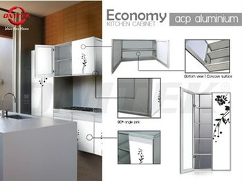 economy acp aluminium kitchen cabinet buy kitchen