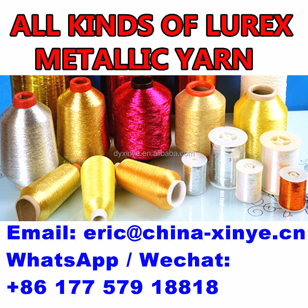 ST TYPE metallic yarn for embroidery Dongyang Xinye THREAD and 600d 450d and all other types metallic yarn