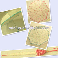 Straight manual fashion ladies umbrells with trim Japanese style