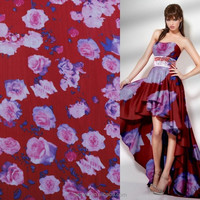 2015 new fashion ladies dress design on chiffon fabrics