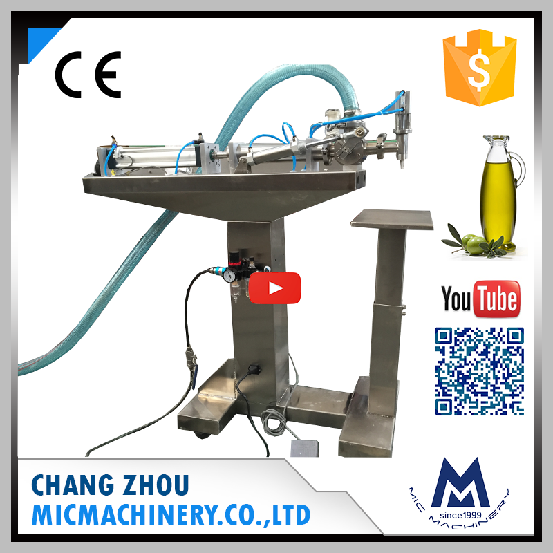 Micmachinery material suction pipe MIC-L40 semi auto liquid filling machine