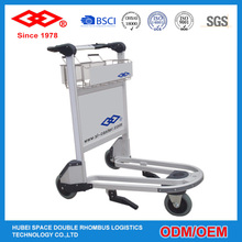Aluminum alloy Self-adjusting auto brake plastic handle Travel airport trolley