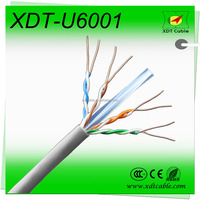 Factory price 0.57mm 23awg solid copper d-linking lan utp cable cat6 price