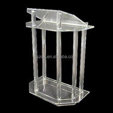 adjustable lectern clear acrylic podium for churches