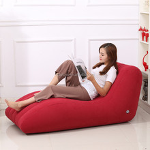 OEM S-shaped Flocking PVC inflatable Loungers Inflatable Lazy Sofa Living Room Inflatable Bean Bag Chair flocked air sofa