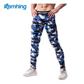wholesale camouflage pants,Custom blue wave printed camo cargo yoga fitness pants men