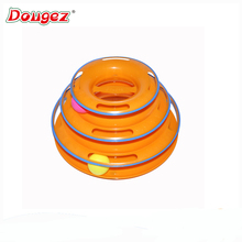 Amazon Hot selling New version with safety bar 3 layer cat moving toy with ball . tower of track toy as seen on TV