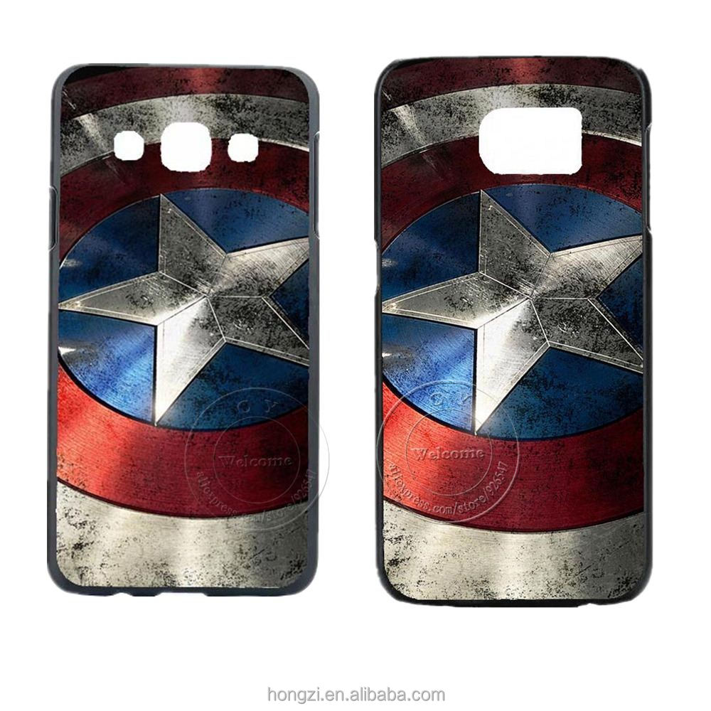 Captain America Design Case Cover For Samsung Galay S3 S4 S5 S5 Mini S6 Edge Plus Note 2 Note 3 Note 4 5 J1 J5 J7 A3 A5 A7 A8