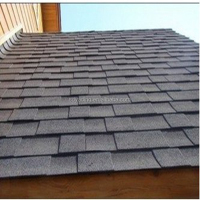 Glaze coloured red asphalt roof shingles