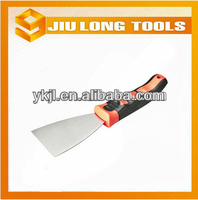 professional carbon steel putty knives scraper with plastic handle